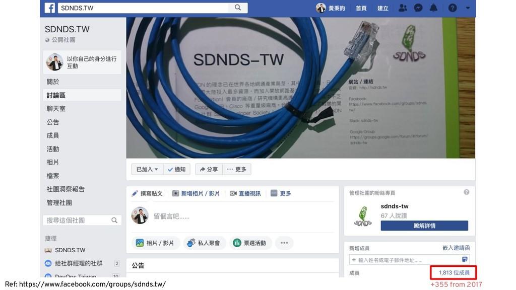 Ref: https://www.facebook.com/groups/sdnds.tw/ ...