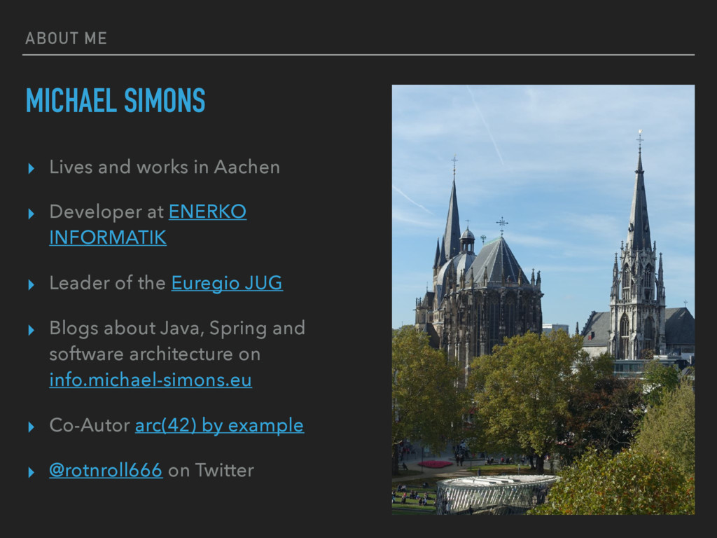 ABOUT ME MICHAEL SIMONS ▸ Lives and works in Aa...