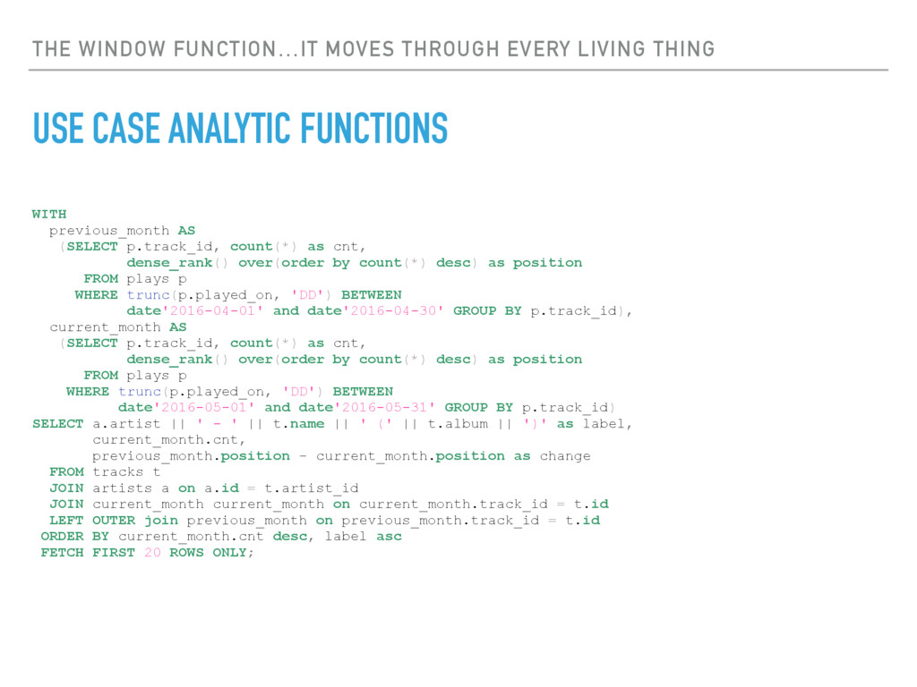 THE WINDOW FUNCTION…IT MOVES THROUGH EVERY LIVI...