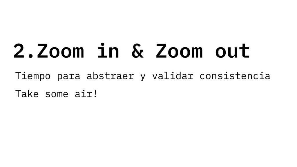 2.Zoom in & Zoom out Tiempo para abstraer y val...