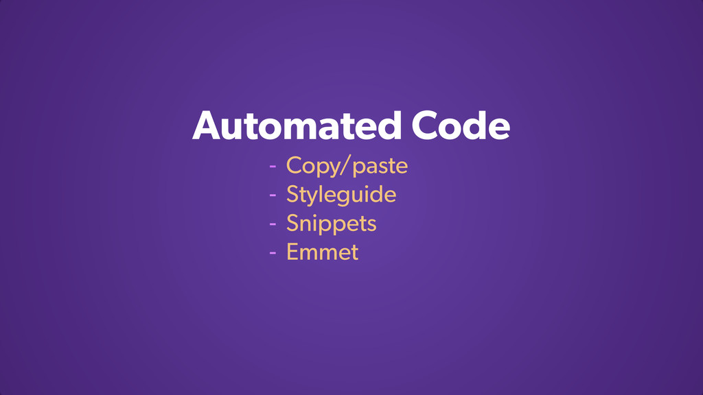 Automated Code - Copy/paste - Styleguide - Snip...