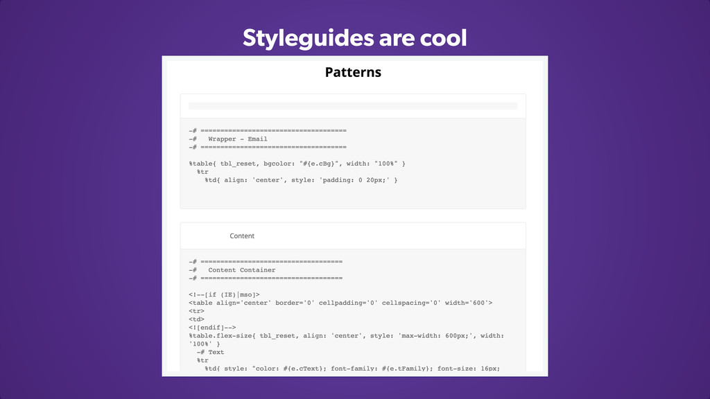 Styleguides are cool