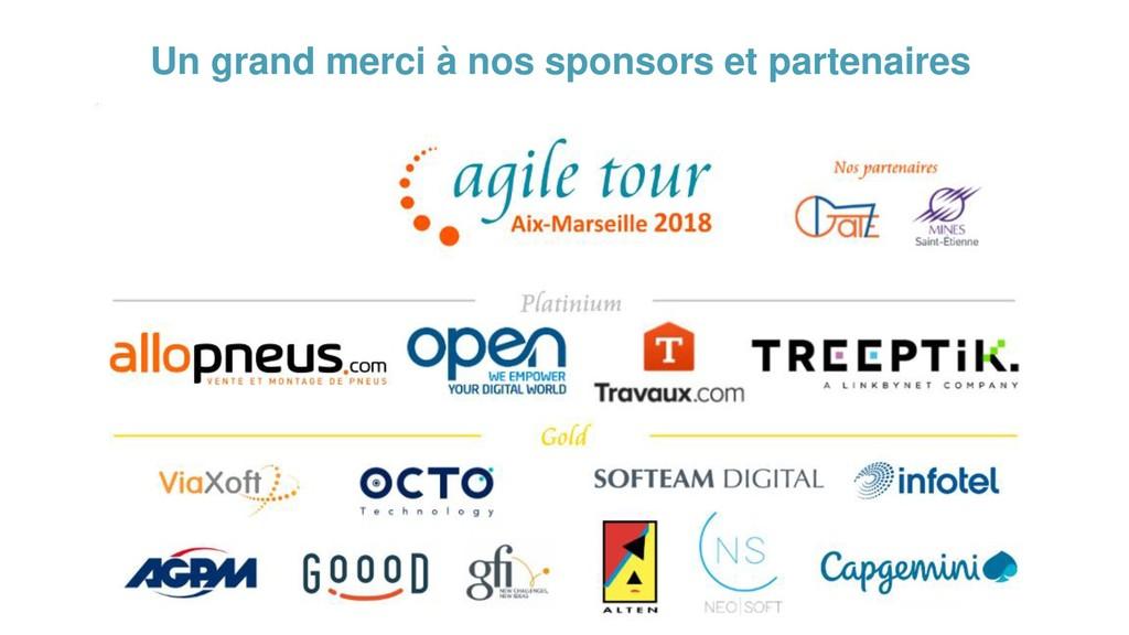 Un grand merci à nos sponsors et partenaires
