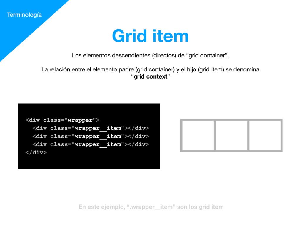 "Grid item Terminología <div class=""wrapper""> <..."