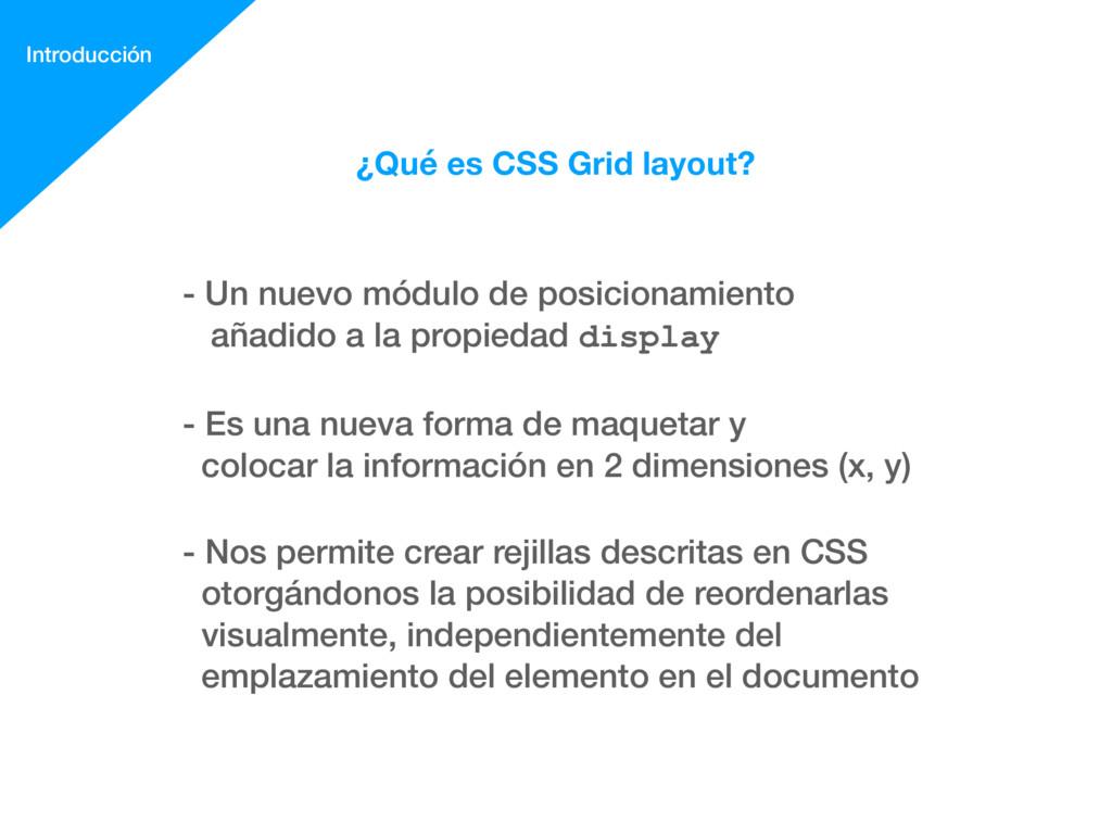 ¿Qué es CSS Grid layout? - Un nuevo módulo de p...
