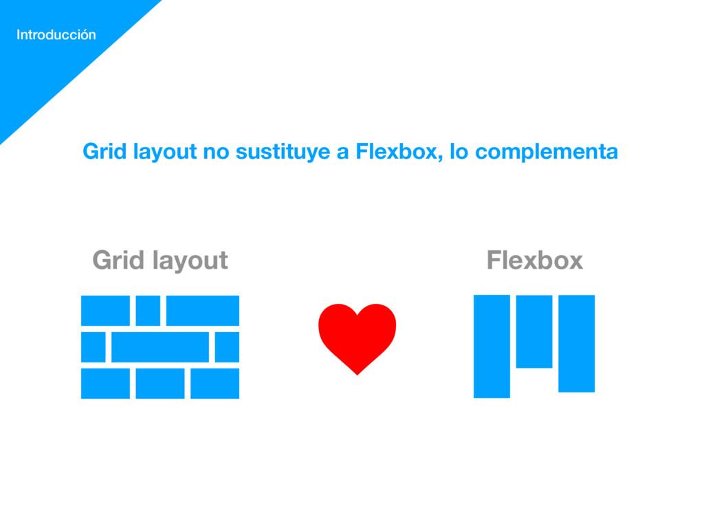 Grid layout Flexbox Grid layout no sustituye a ...