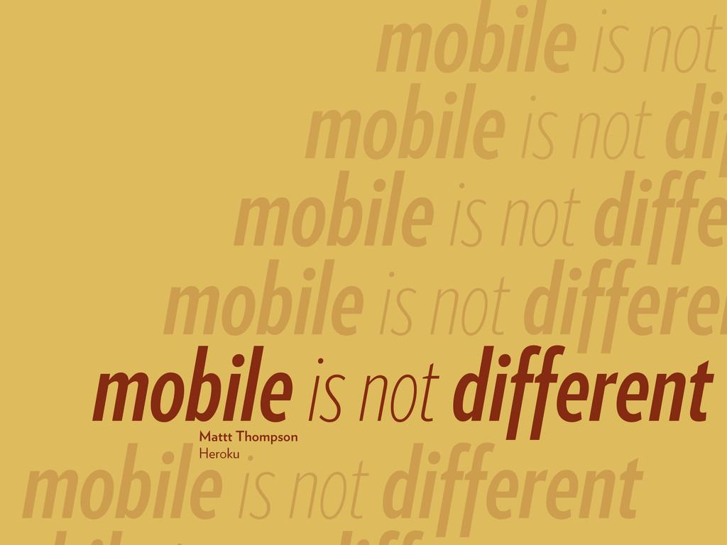 mobile is not different mobile is not differen ...