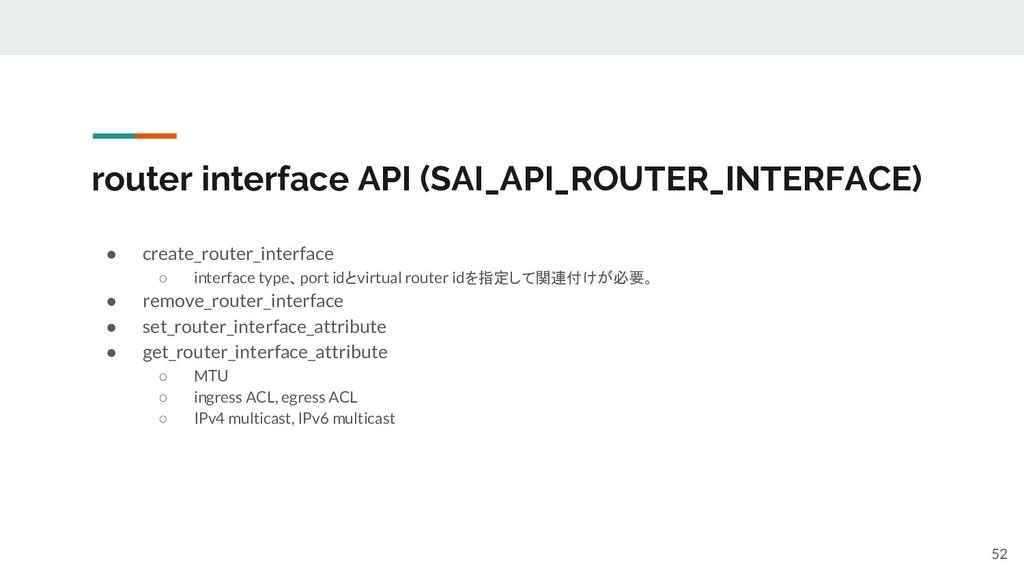 router interface API (SAI_API_ROUTER_INTERFACE)...