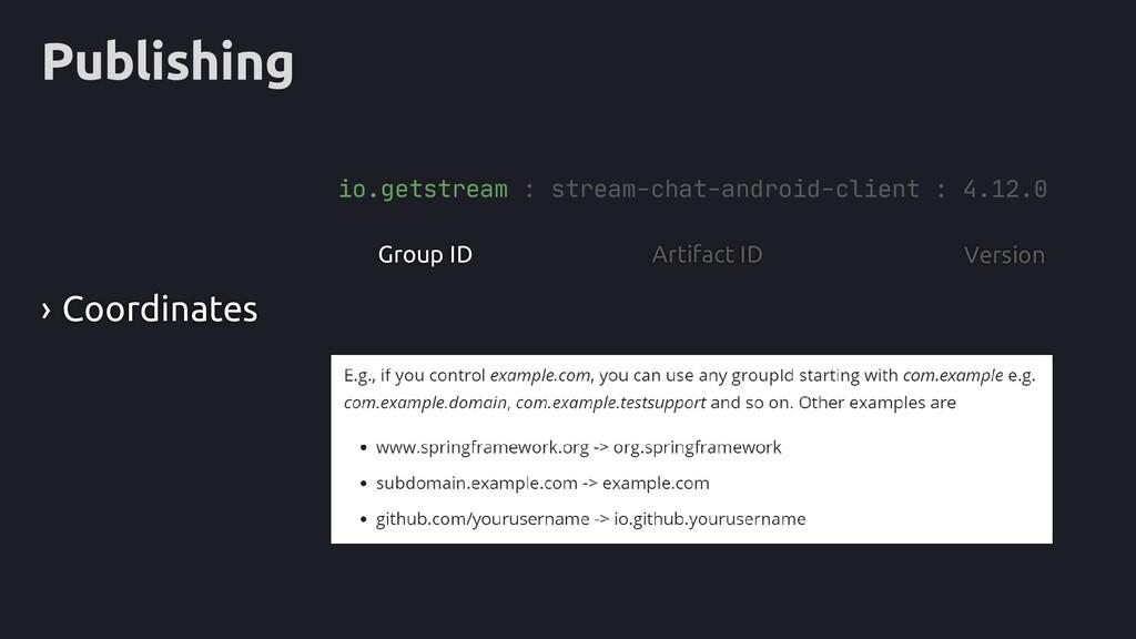 Publishing Group ID io.getstream : stream-chat-...
