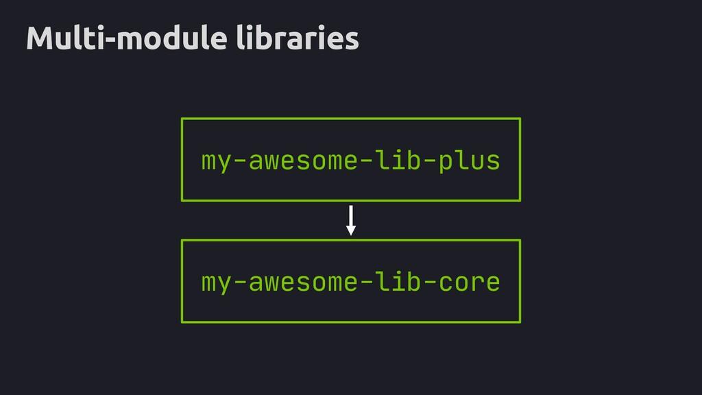 rx Multi-module libraries my-awesome-lib-plus m...