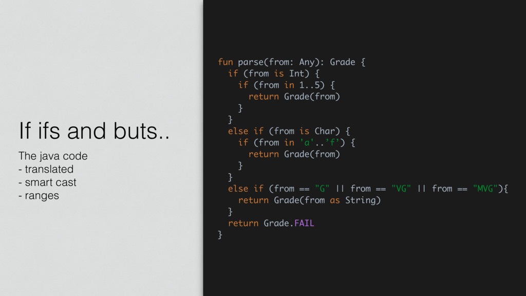 If ifs and buts.. The java code - translated - ...