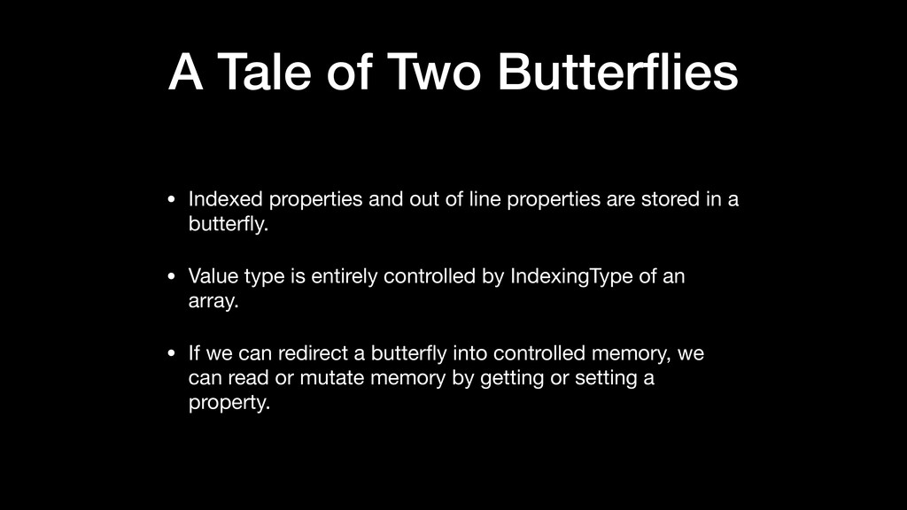 A Tale of Two Butterflies • Indexed properties a...