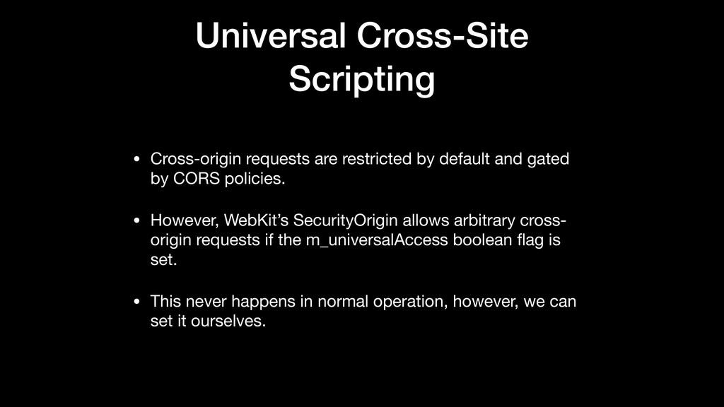 Universal Cross-Site Scripting • Cross-origin r...