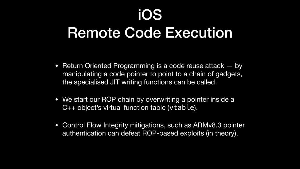 iOS Remote Code Execution • Return Oriented Pro...