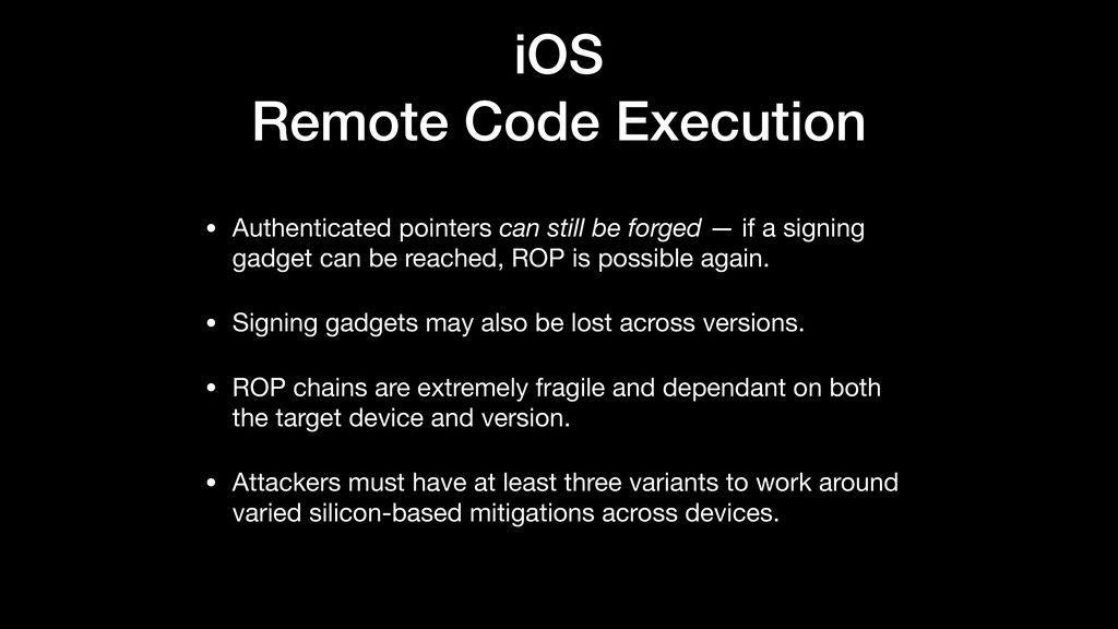 iOS Remote Code Execution • Authenticated point...