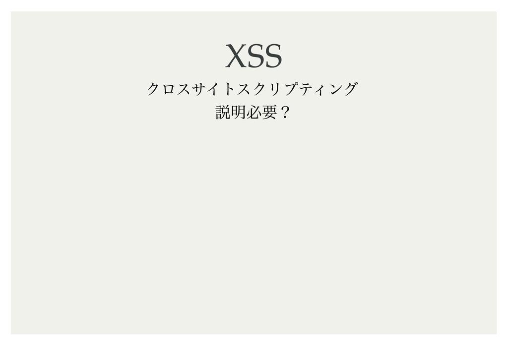 XSS XSS ΫϩεαΠτεΫϦϓςΟϯά આ໌ඞཁʁ