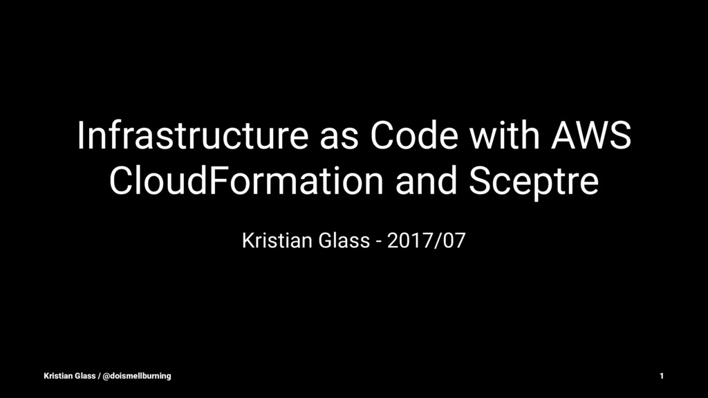 Infrastructure as Code with AWS CloudFormation ...