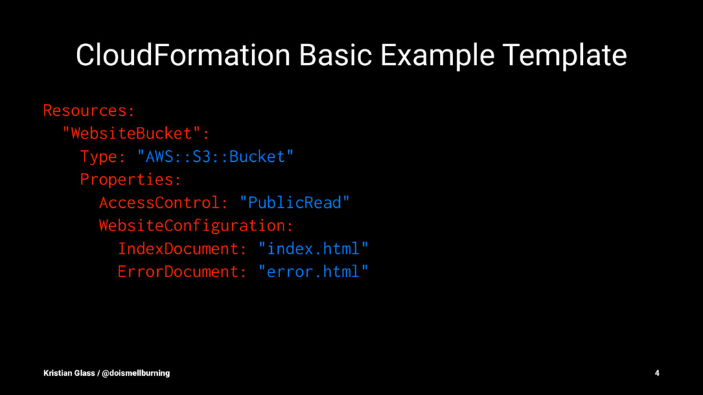 CloudFormation Basic Example Template Resources...