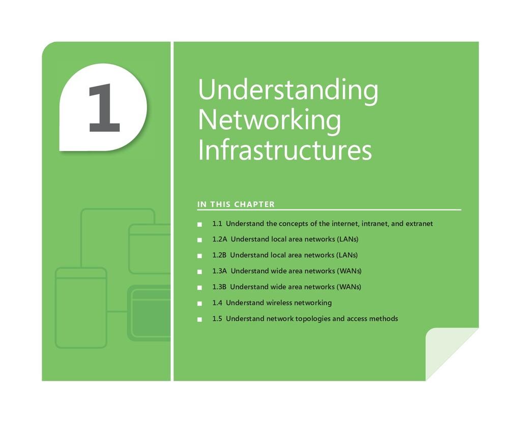 1 Understanding Networking Infrastructures IN T...
