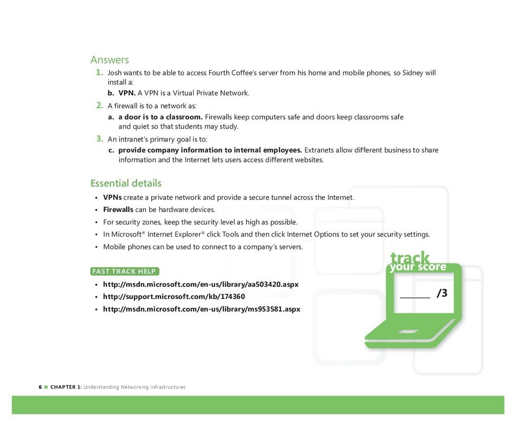 6 CHAPTER 1: Understanding Networking Infrastru...