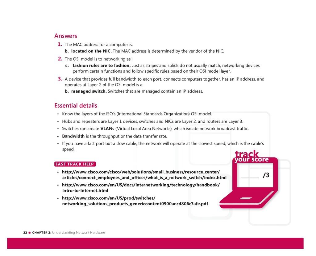 22 CHAPTER 2: Understanding Network Hardware __...