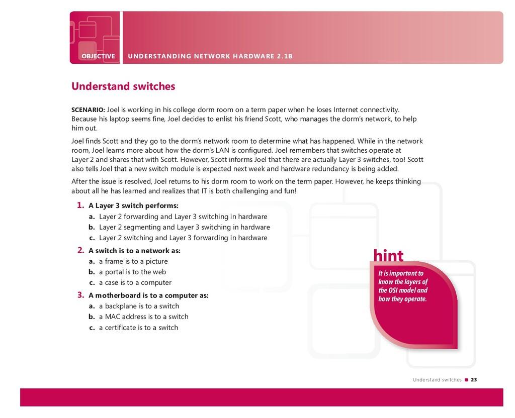 Understand switches 23 OBJECTIVE UNDERSTANDING ...
