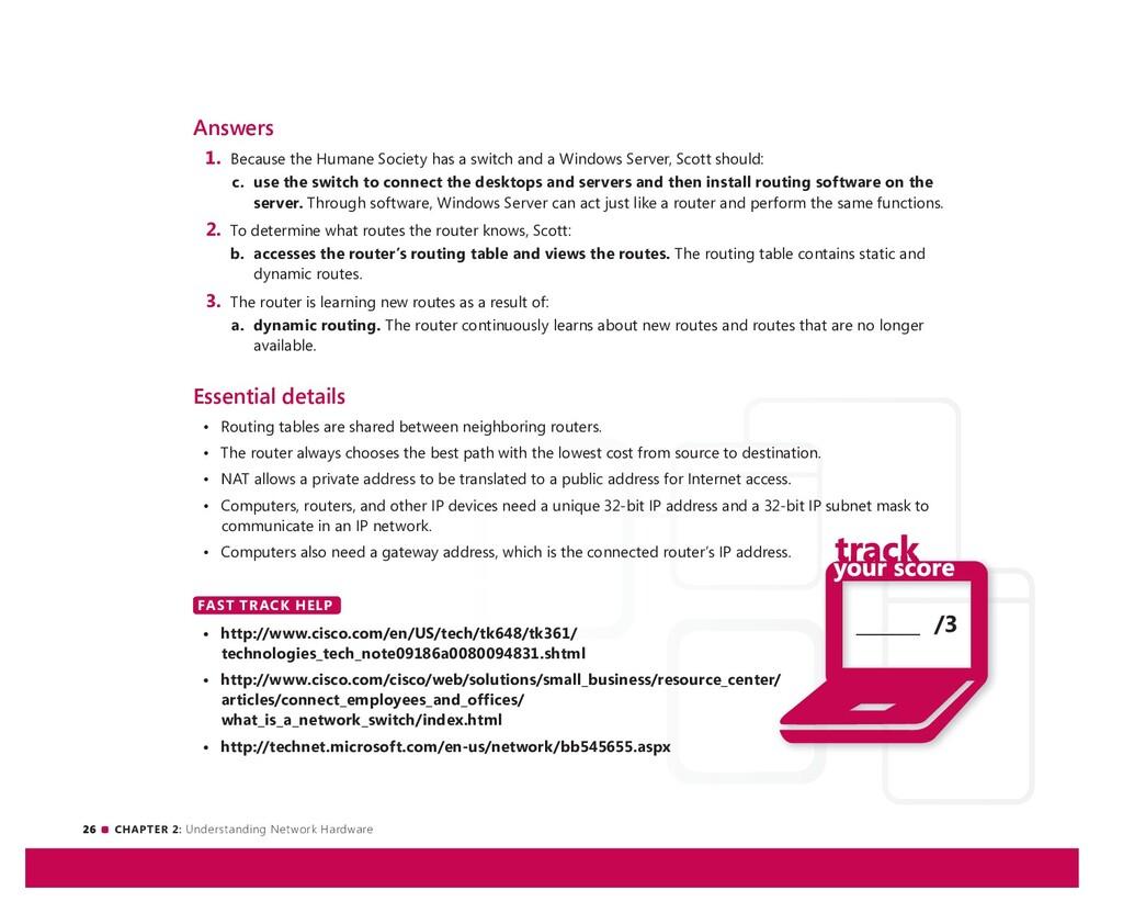 26 CHAPTER 2: Understanding Network Hardware __...