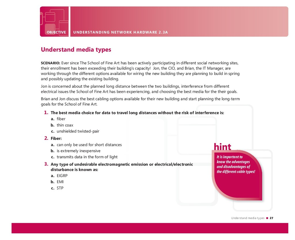 Understand media types 27 It is important to kn...