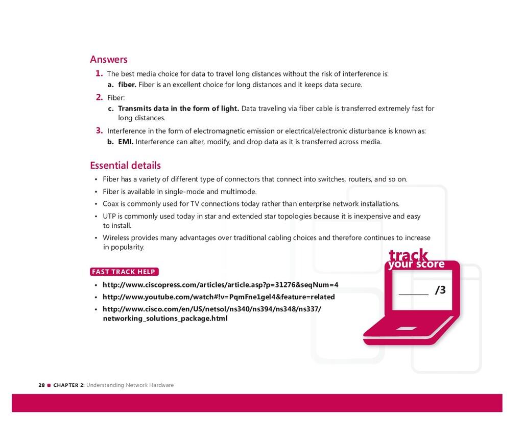 28 CHAPTER 2: Understanding Network Hardware __...