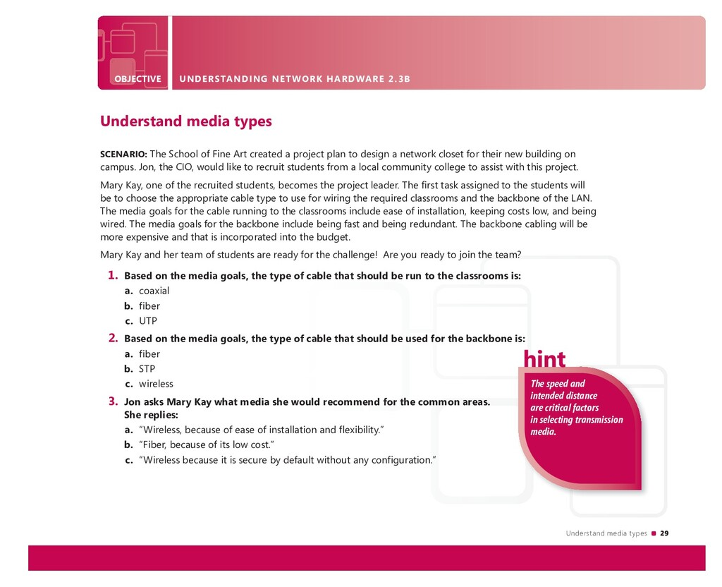 Understand media types 29 The speed and intende...