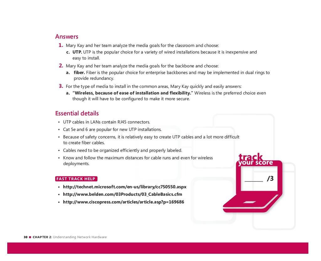 30 CHAPTER 2: Understanding Network Hardware __...