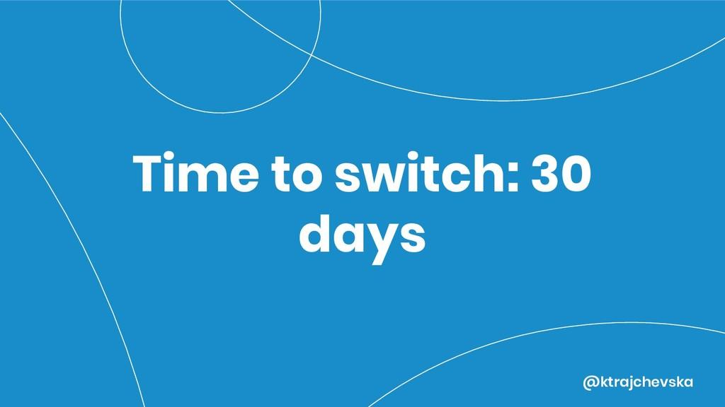 @ktrajchevska Time to switch: 30 days