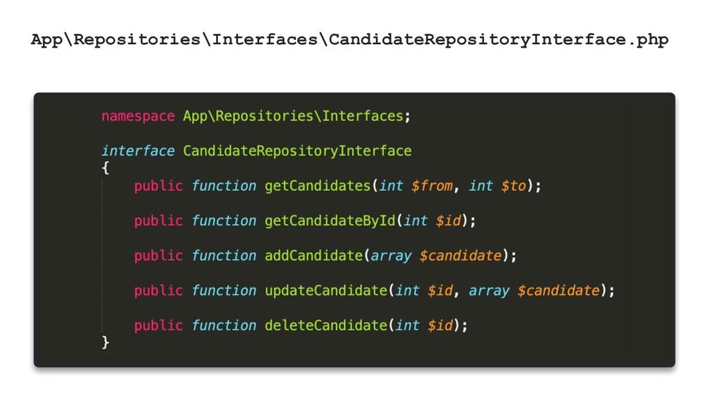 @ktrajchevska App\Repositories\Interfaces\Candi...