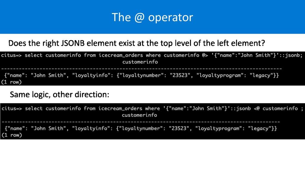The @ operator