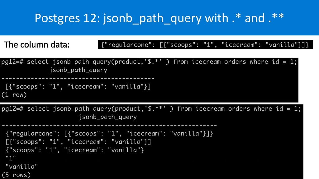 Postgres 12: jsonb_path_query with .* and .**