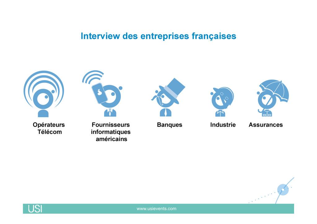 Interview des entreprises françaises Assurances...