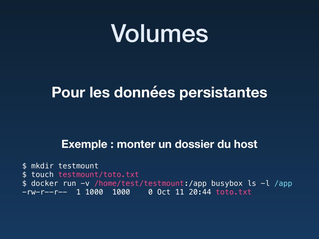 Volumes $ mkdir testmount $ touch testmount/to...