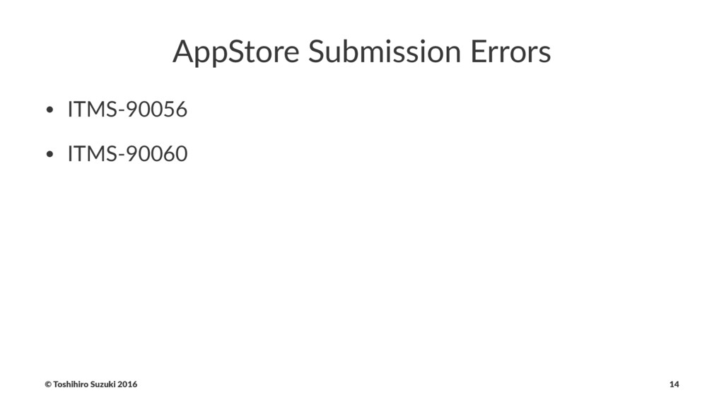 AppStore Submission Errors • ITMS-90056 • ITMS-...