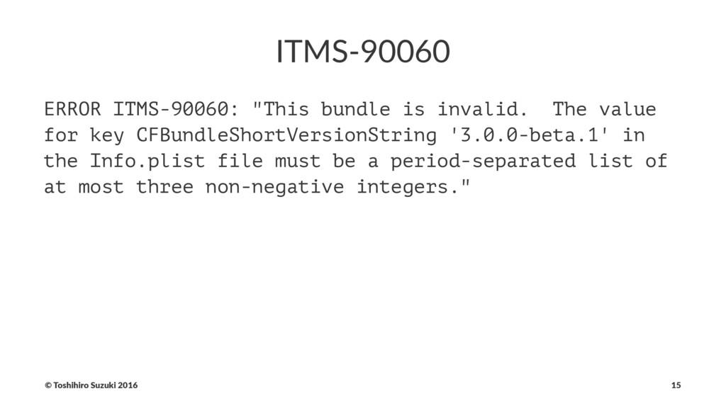 "ITMS-90060 ERROR ITMS-90060: ""This bundle is in..."