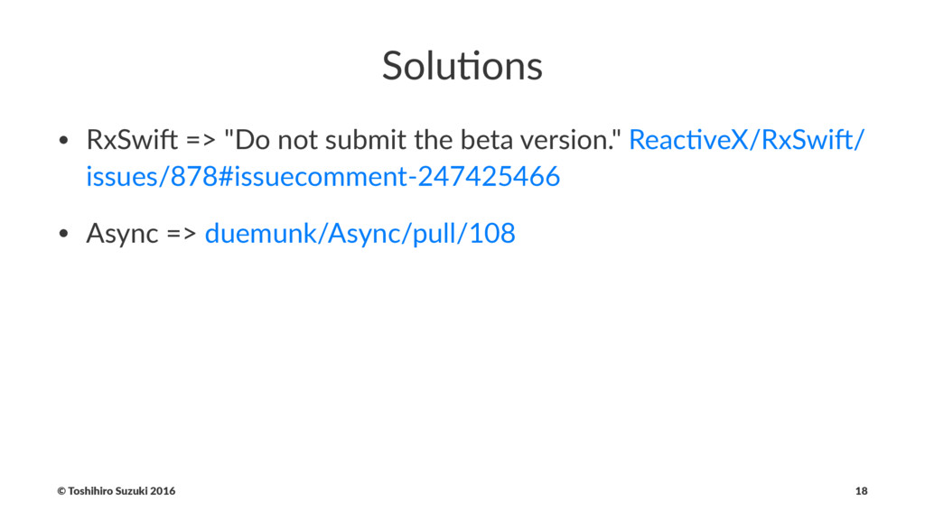 """Solu%ons • RxSwi' => """"Do not submit the beta ve..."""