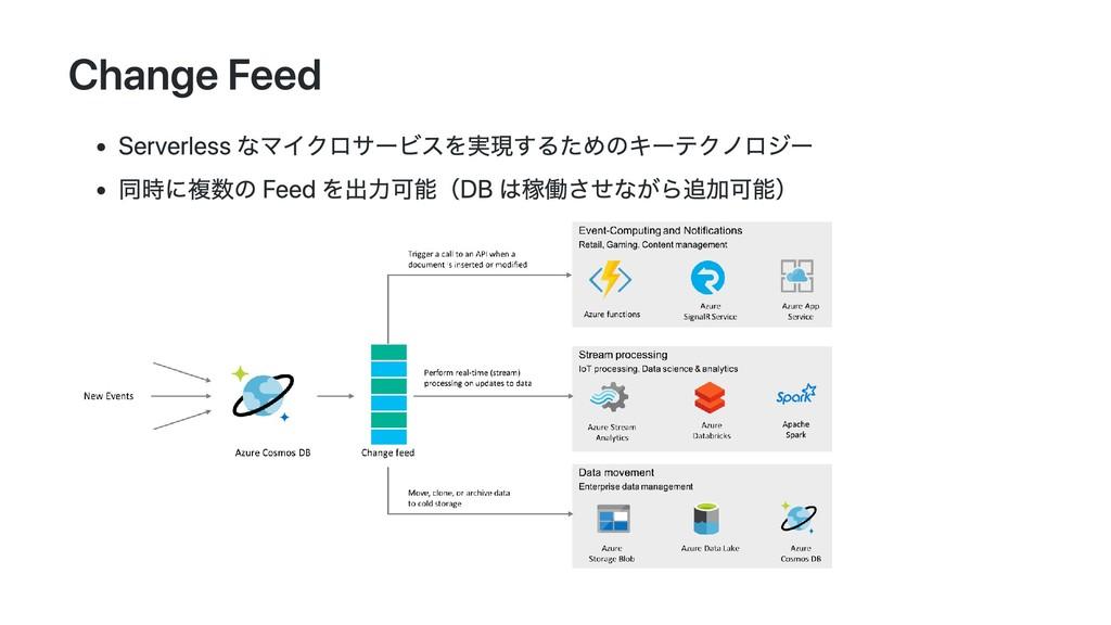 Change Feed Serverless なマイクロサービスを実現するためのキーテクノロジ...