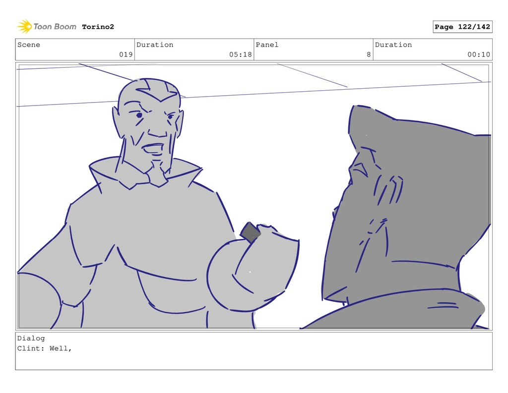 Scene 019 Duration 05:18 Panel 8 Duration 00:10...