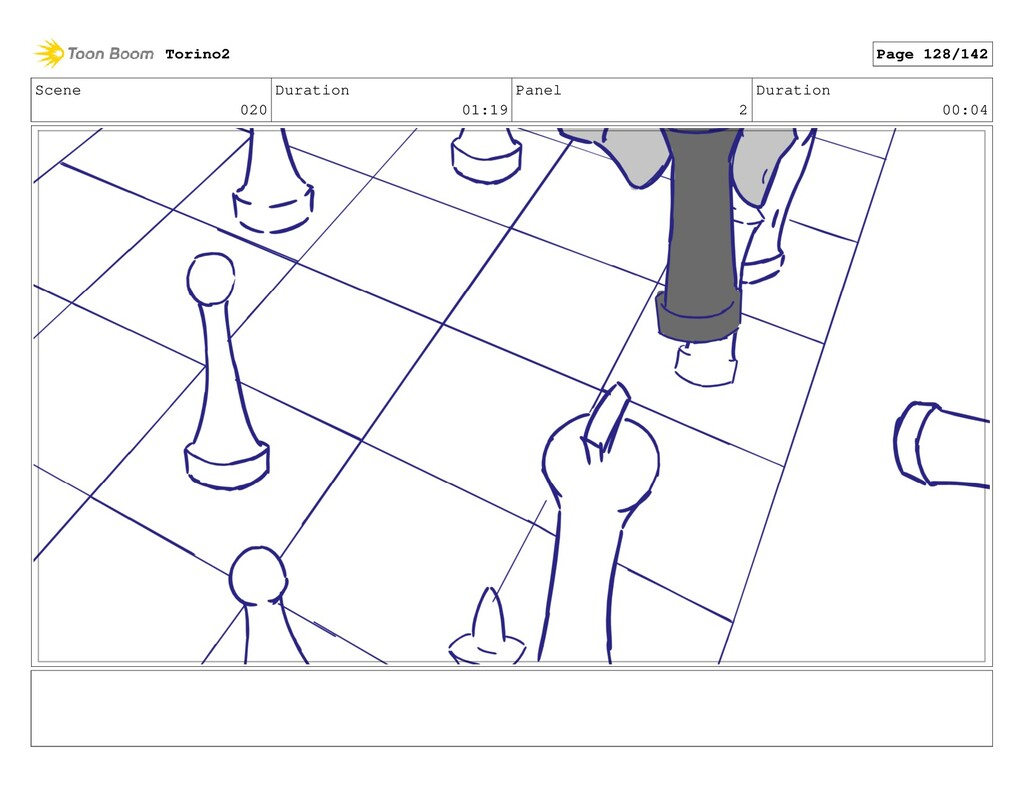 Scene 020 Duration 01:19 Panel 2 Duration 00:04...