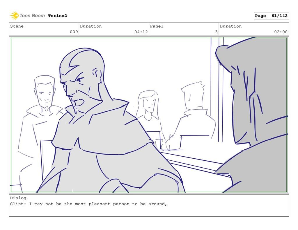 Scene 009 Duration 04:12 Panel 3 Duration 02:00...