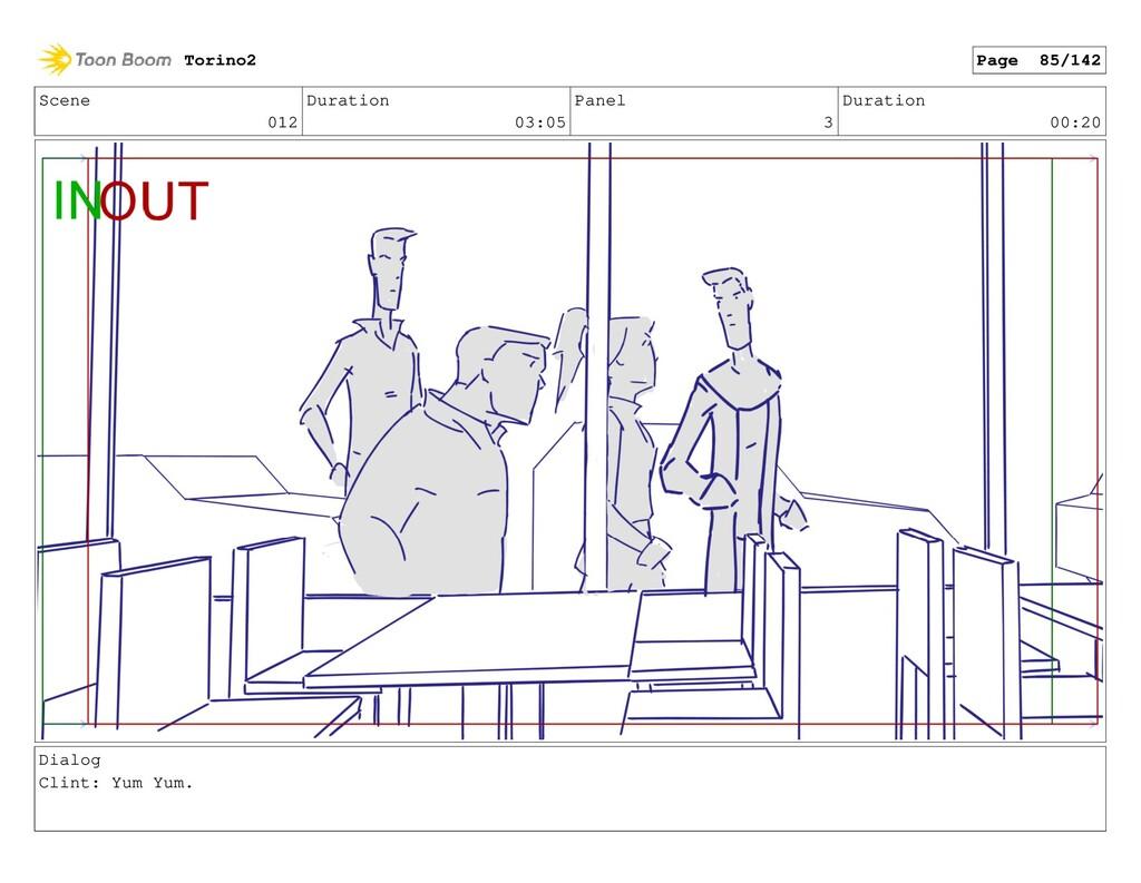 Scene 012 Duration 03:05 Panel 3 Duration 00:20...