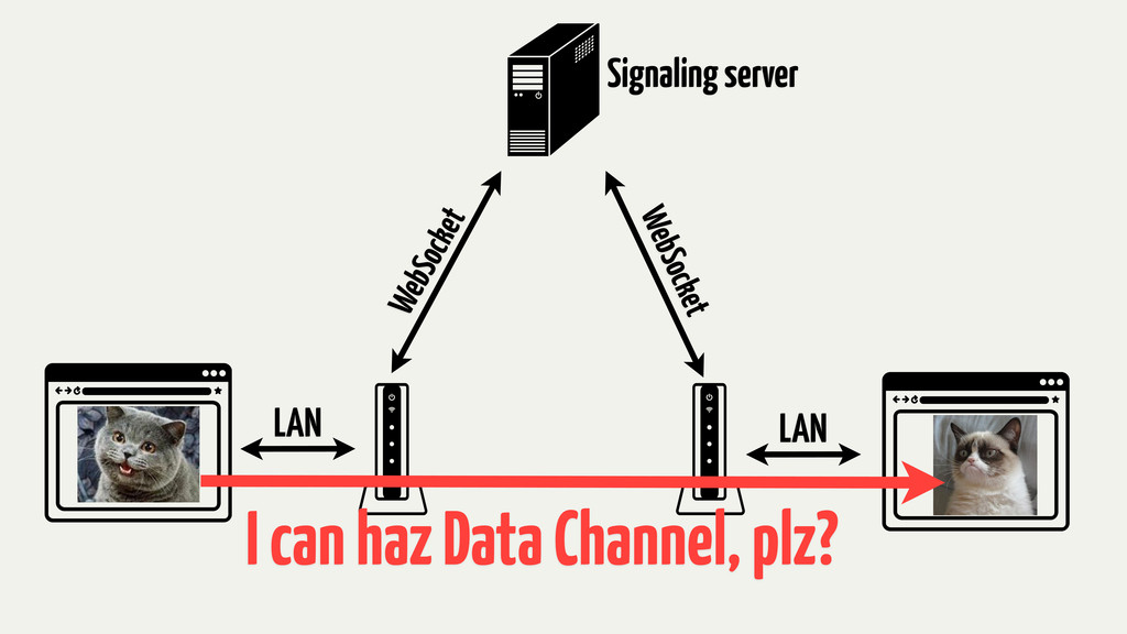 LAN LAN WebSocket WebSocket Signaling server I ...