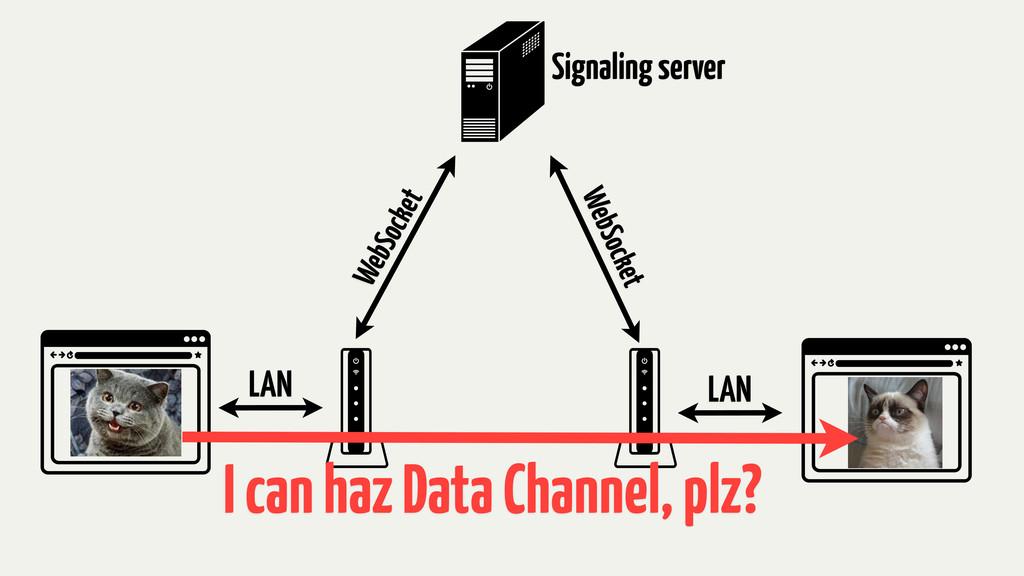LAN LAN WebSocket WebSocket Signaling server I ...