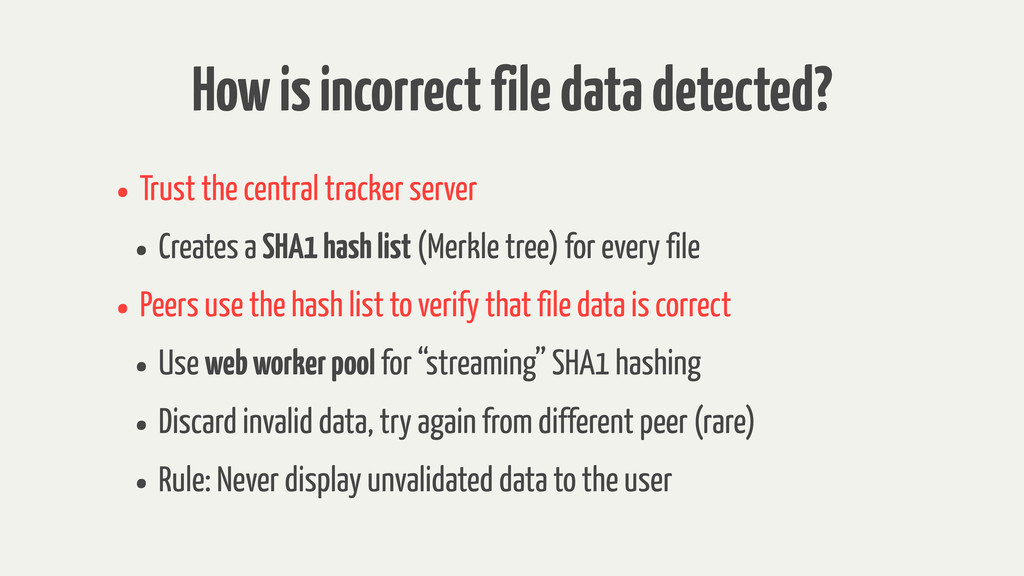 How is incorrect file data detected? • Trust th...