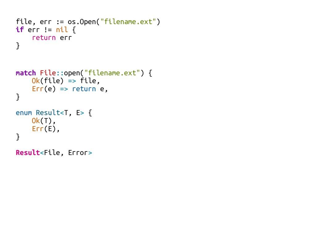 "file, err := os.Open(""filename.ext"") if err != ..."