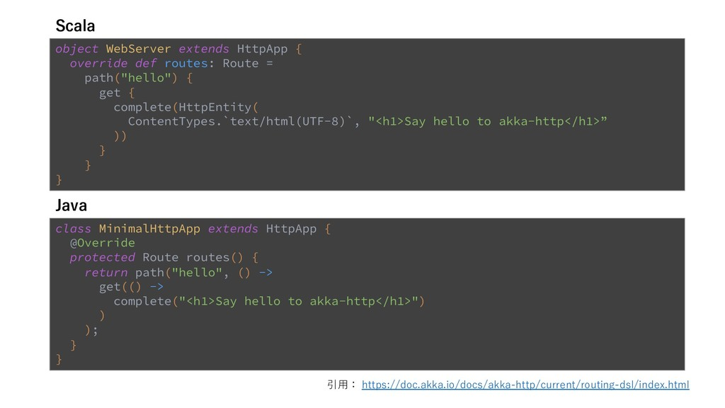 12 object WebServer extends HttpApp { override ...